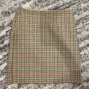 Banana Republic wool plaid pencil skirt